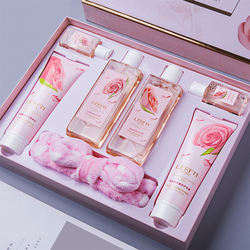 6pcs rose extract shampoo set shower gel shampoo body lotion