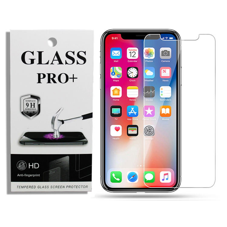 HOCAYU Amazon Hot Tempered Glass For Iphone 11 pro max 6 6s 7 8 x xr xs max Phone Screen Protector Shockproof