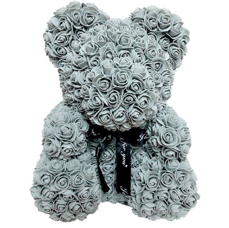 Hot Sale 2020 Valentines Gift Rose Teddy Bear Wedding Guest Gift