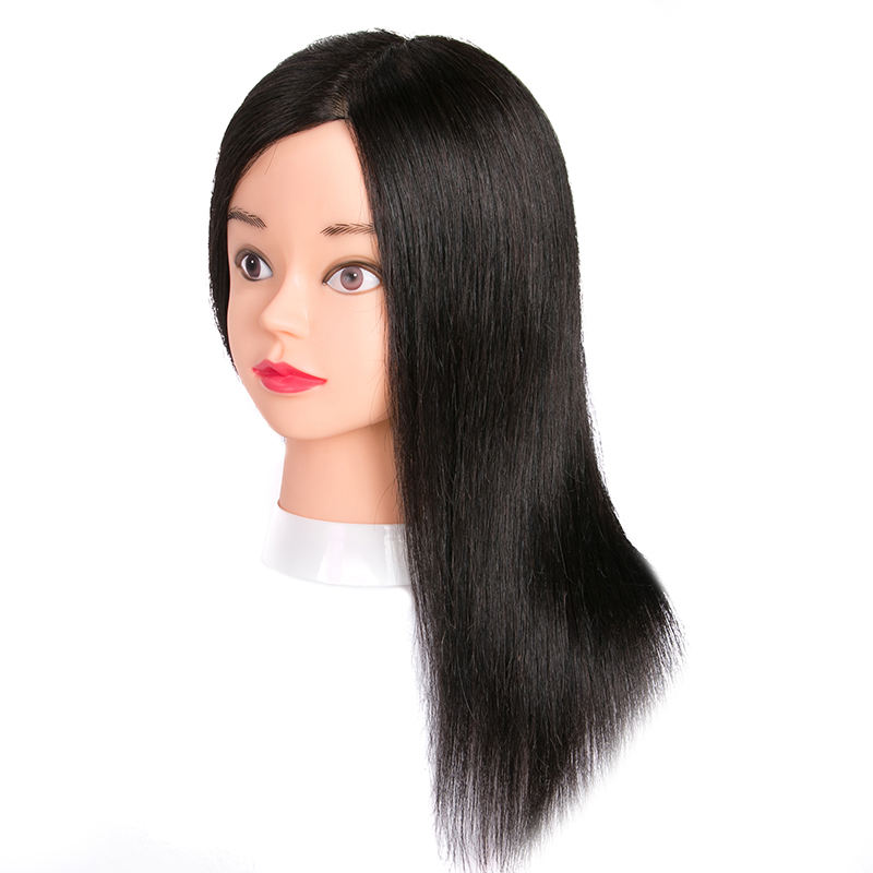 Factory Direct Sale maniquies 100% human hair model for makeup doll mannequin for eyebrow afro training head