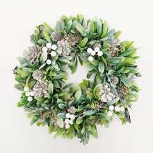 Christmas Wreath Decorative For Front Door Christmas Wreath Green