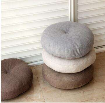round velvet floor pillow cushion