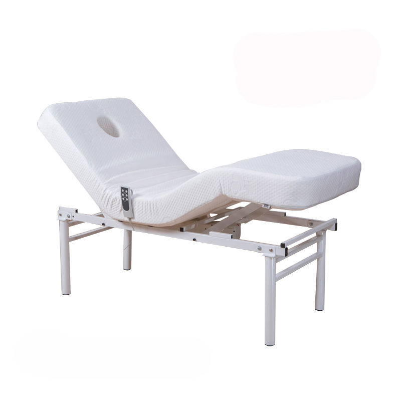 Popular Comfortable Simple White Beauty Spa Massage Bed For Body Single Bed