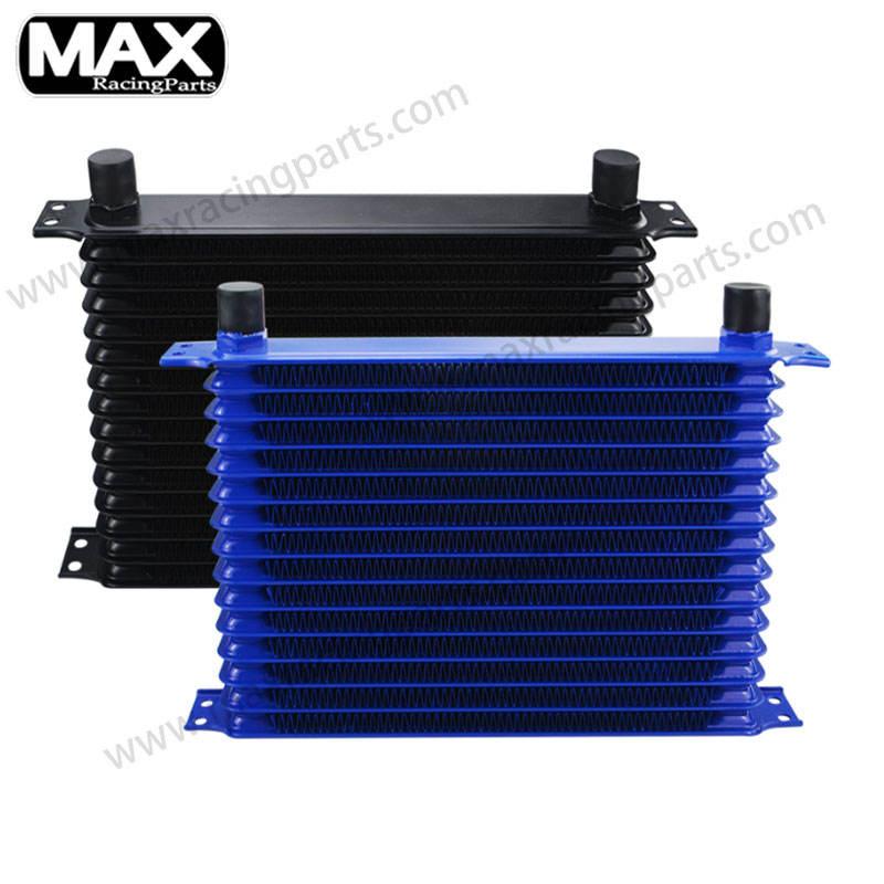 Universal Automotive Blue Aluminum 15-Row Engine /& Transmission Oil Cooler