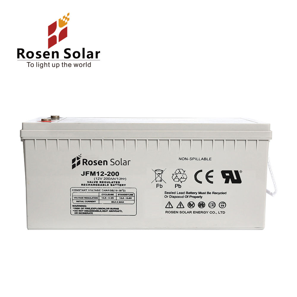 Rosen 12V Rechargeable Battery 200AH Deep Cycle Lead Acid