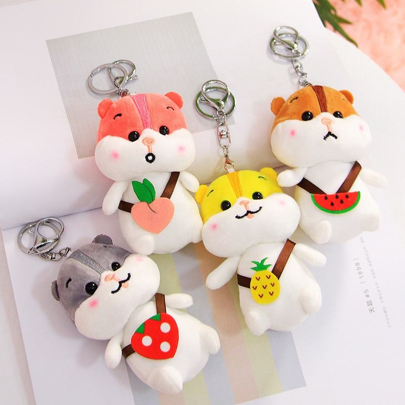 Promotional Gift Stuffed animal soft teddy bear key chain plush bear toy gift for hanging key ring
