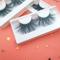 Strip Hair Lashes 3dmink Eyelash and Circle Box Custom Eyelash Packing 3D 25MM 100% Mink Hand Made Fur Natural Long