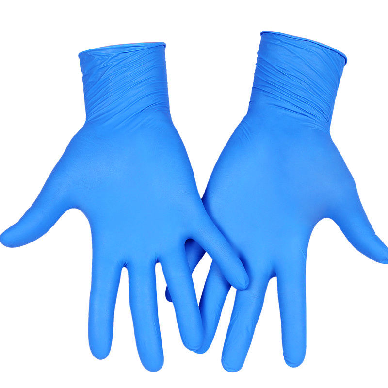 Waterproof High Quality Powder Free Latex Free Blue disposable Nitrile Gloves Manufacturers