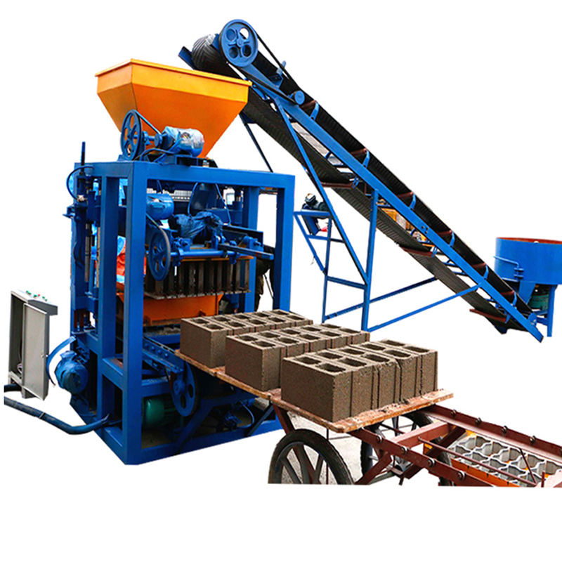 QT4-24 China semi automatic concrete block making machine brick