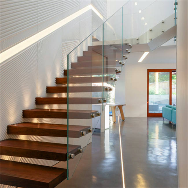 custom-made baluster stairs with handrail