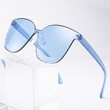 new fashion rainbow square sunglasses for women 2020 shades unisex sunglasses one piece glasses rimless