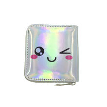Holographic Wallet Shiny Purse Money Clip Mini Evening Clutch Bag Rainbow Card Holder