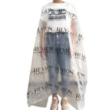 Printed logo Transparent Hair Dressing Capes Barber Gown 130*160cm for hairdressing and barber salon Disposable barber cape