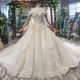 HTL694 luxury middle east large appliqued lace wedding dress bridal gowns luxury robe de marriage