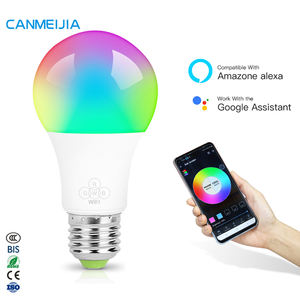 7W 9W 220V E26 E27 Remote Musik Disko Warna-warni RGB Dimmable Alexa Warna Smart LED Light Bulb, bohlam LED Lampu, LED Wifi Smart Bulb