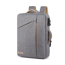 Durable Waterproof Anti Theft Lock Outdoor Laptop Computer Tote Bag Travel Computer Backpack With USB Interface