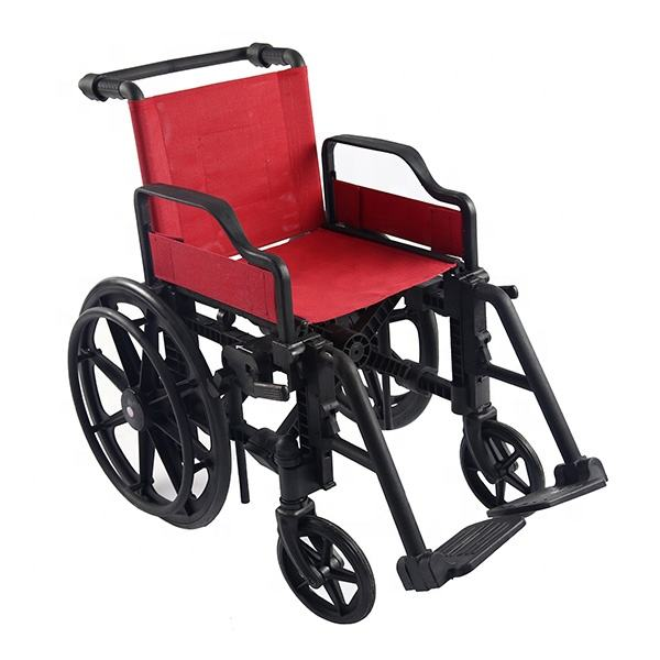 Wheel chair, Lightweight Folding Plastic wheelchair CE Approved