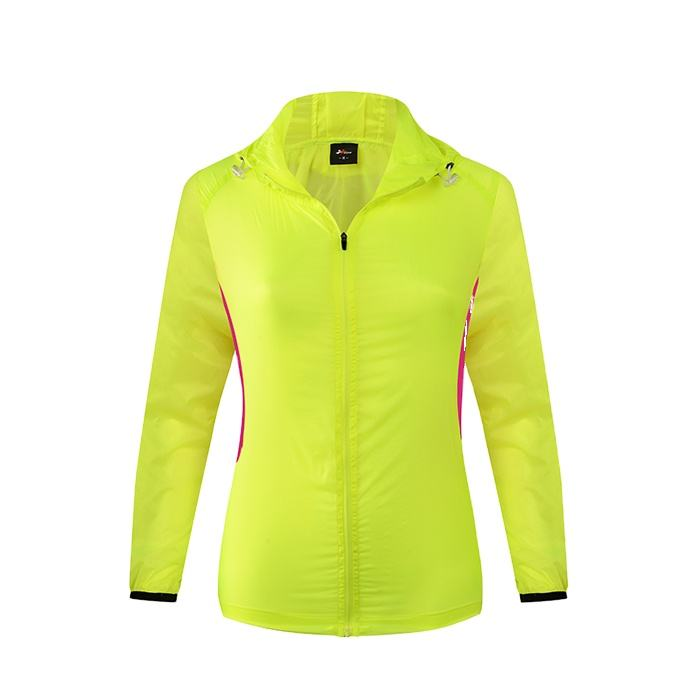 DREAM SPORT Custom newest women cycling yellow color rain jacket
