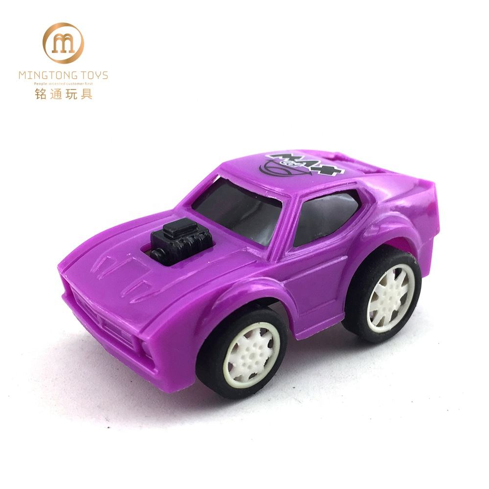 Cheap kids gift colorful small vehicle model toy china manufacturer plastic pull back car