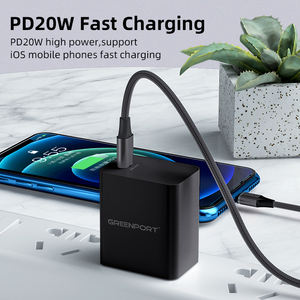 PD 20W Cepat Charger USB Power 5V 3A Uni Eropa US UK Plug Perjalanan Dinding Charger USB-C Power Adapter High Power Type C Cepat Pengisian