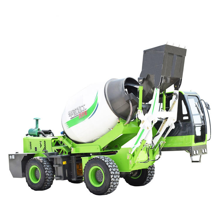 great automatic loading self-feeding concrete mixer for sale machine with truck