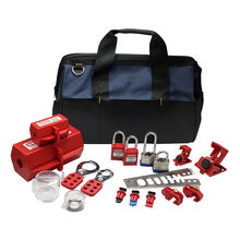 Industrial Lockout Tagout Tool Kit Electrical,Portable Electrical Safety Lockout Kit,Group Lockout Loto Kit