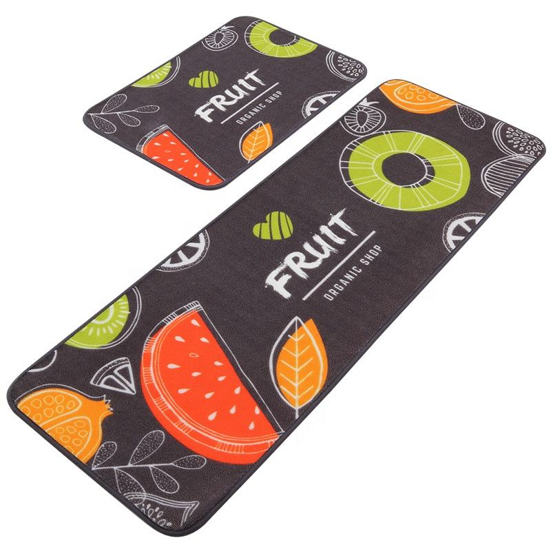 100% Polyester Colorful Fruit Absorbent Non-slip Kitchen Mat