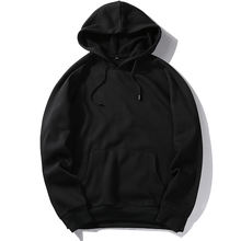 custom quality mens fitted sport plus size long sleeve black hoodie