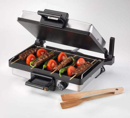 Professionele Contact Grill/Sandwich Grill Rundvlees Machine Pizza Maker Silex Soeppan Twee Kanten Verwarming