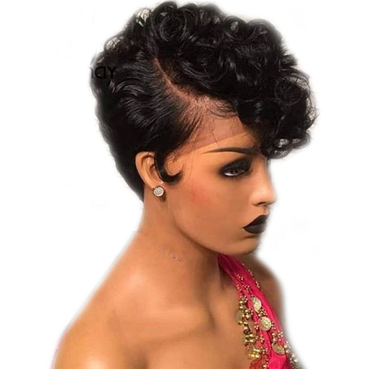 Sunnymay 13x4 Short Human Hair Wigs For Black Women Pre Plucked Bob Wig Remy Brazilian Glueless Lace Front Human Hair Wigs