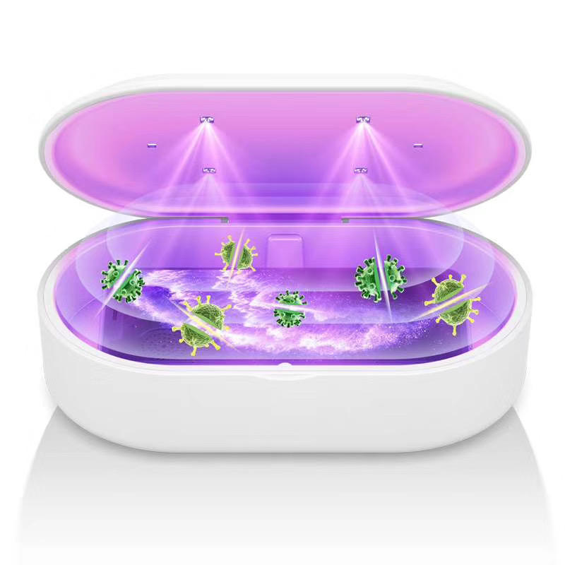 Multifunctional mobile phone wireless charging UV light sterilizer box