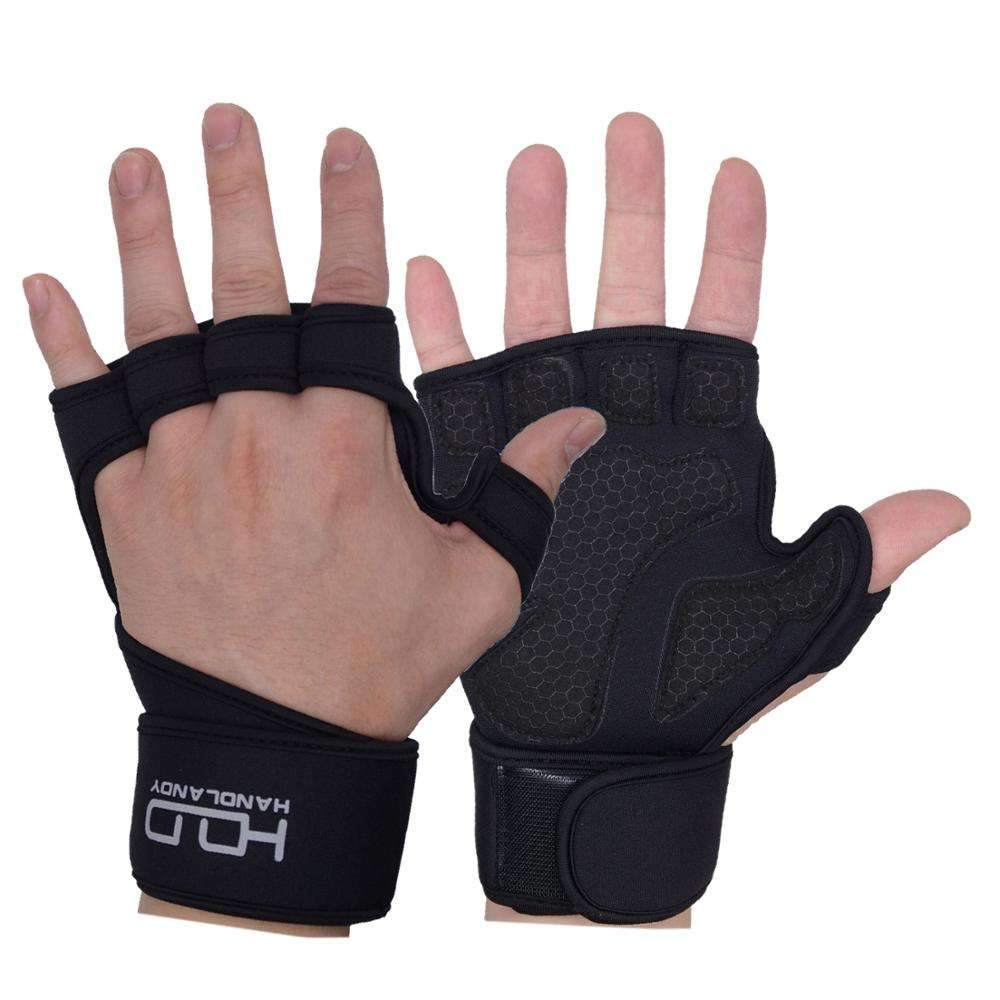 HDD workout great grip sport gym hand gloves weight fitness wholesale long strips weight lifting cycling fingerless gloves