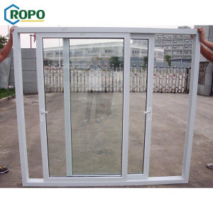 AGGA China Best Design UPVC 2 Panel Sliding Patio Storm Door