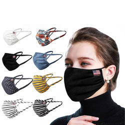 2020 new designer  sports fashion print face cover cotton washable  face coverings