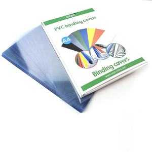A4 170micron plastic binding cover clear PVC sheet