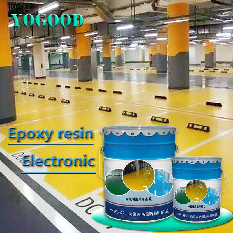epoxy resin self-leveling floor paint Electronic chemical workshop dust-proof and wear-resistant anti-corrosion floor paint