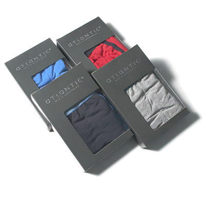 Gift box packing fashion style comfortable men's cotton boxer shorts underwear men
