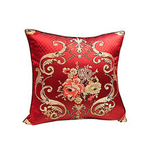 chair pillow cushions throw pillow cover embroidery square silk cushion cover pillow case square cushions