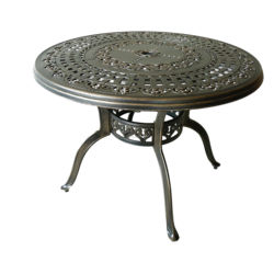 Factory Supplied Outdoor Furniture Cast Aluminum Table & Chair