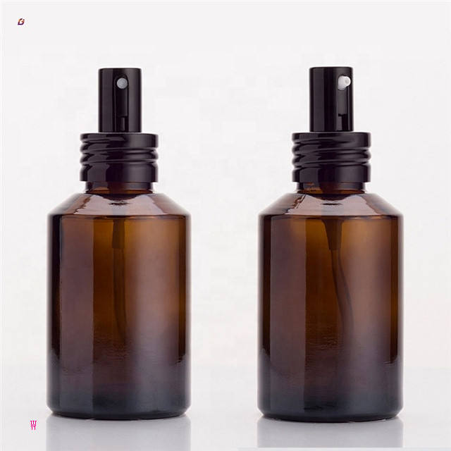 W001 15ml 30ml 60ml 100ml 120ml 4oz perfume amber glass spray bottle