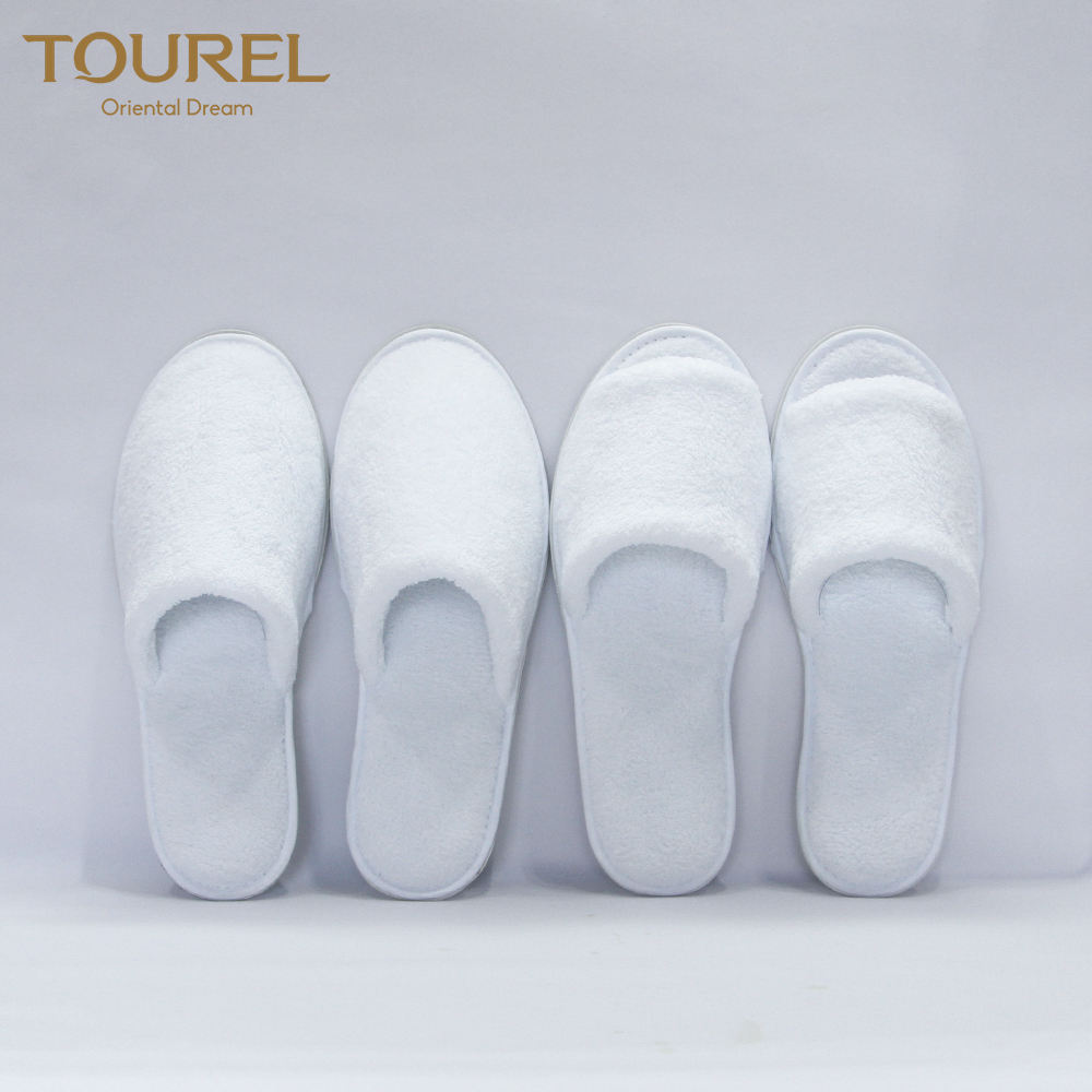Luxury High Quality Cheap Embroidered Woven Coral Fleece Indoor Bathroom Hotel Slipper