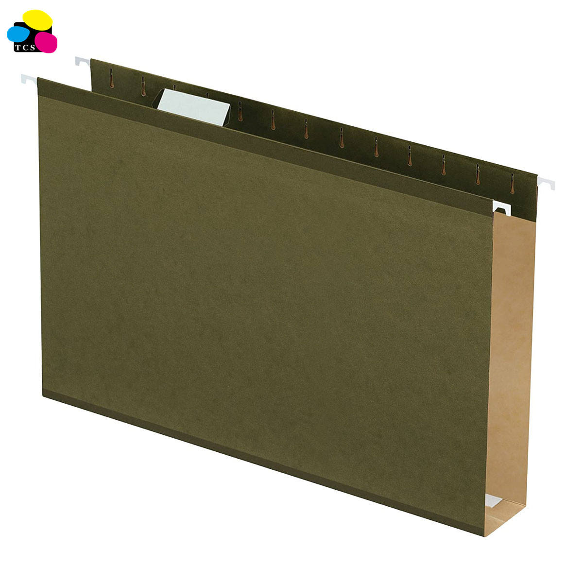 office supply Standard Green Legal Size 1/5 Cut Extra 2inch Capacity Reinforced Hanging File Folders