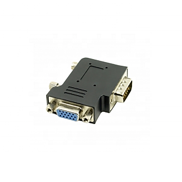 90 Bằng Right Angle 15 Pin VGA Nam Để HD15 Pin Nữ Adapter