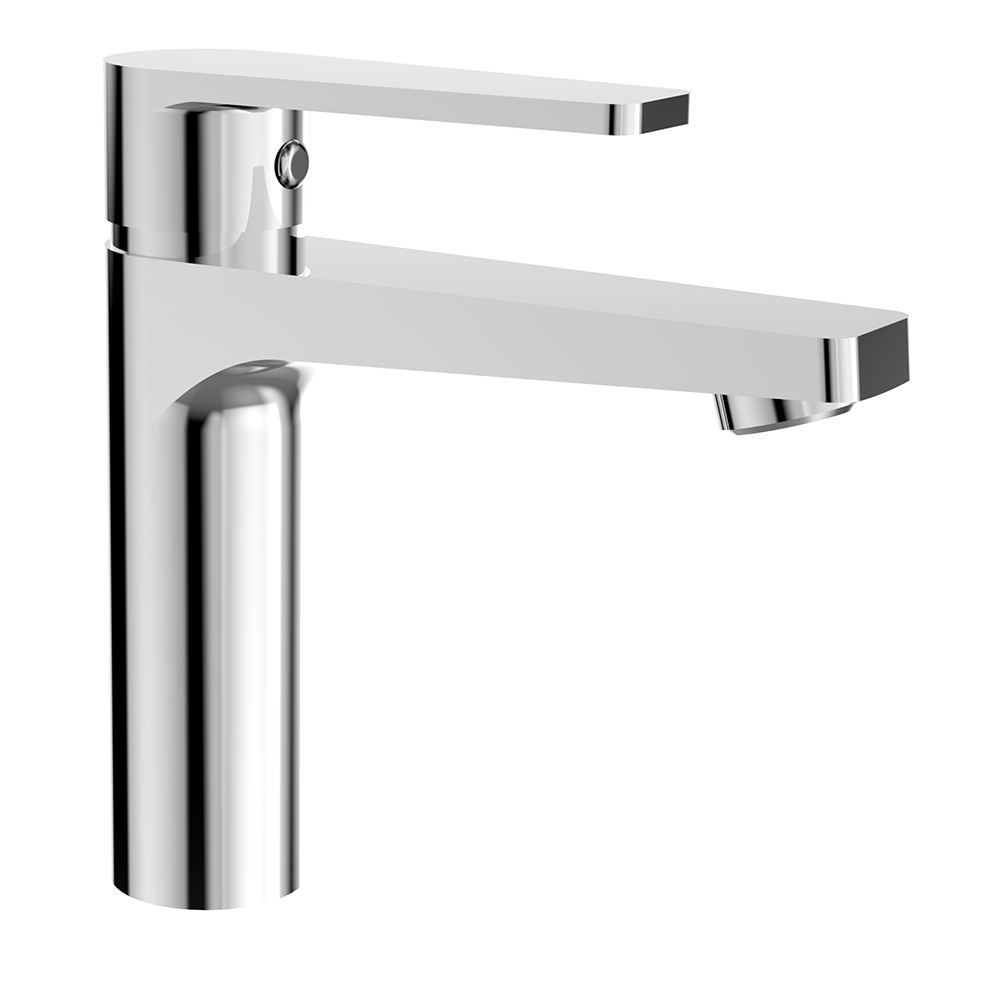 (OB8095-1J)BOOU new design high quality single handle deck mounted chromed brass bathroom wash basin faucet