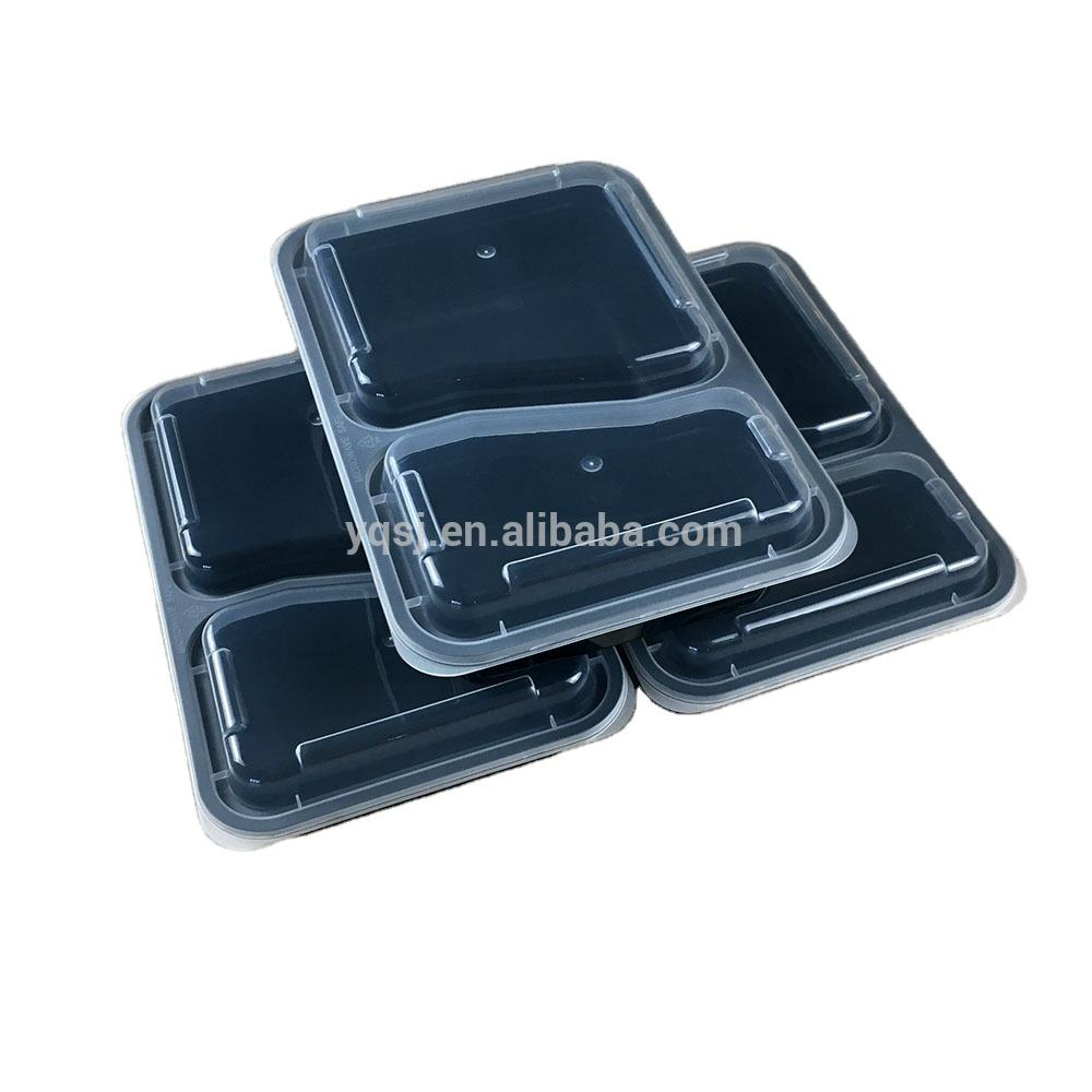 wholesale 1000ml/ 36oz 2 compartments reusable plastic food / lunch / salad storage / takeaway container / box bpa free supply