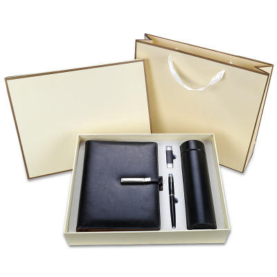 high quality corporate business flask notebook pen and usb gift set luxury giveaways