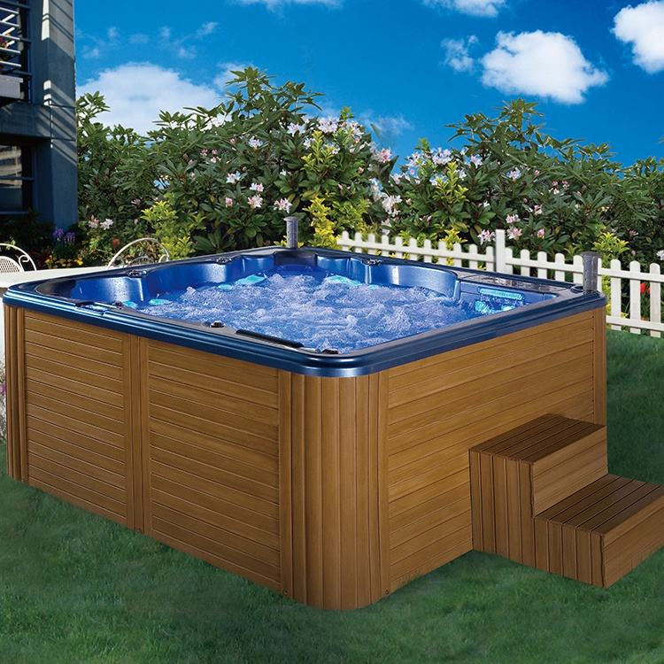 2020 new product Deluxe SG Control System USA imported Acrylic Shell Hot Tub Outdoor Swim SPA with Jacuzzier/ Party massage Bath