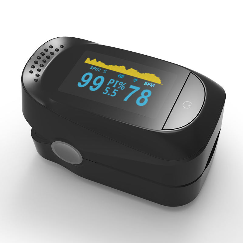 Medical oxygen saturation detector OLED finger pulse oximeter Fingertip oximeter with sleep monitoring function