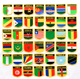 Country Embroidered National Flags Patch Embroidery Patches Sew on Iron on Embroidery Applique Badge