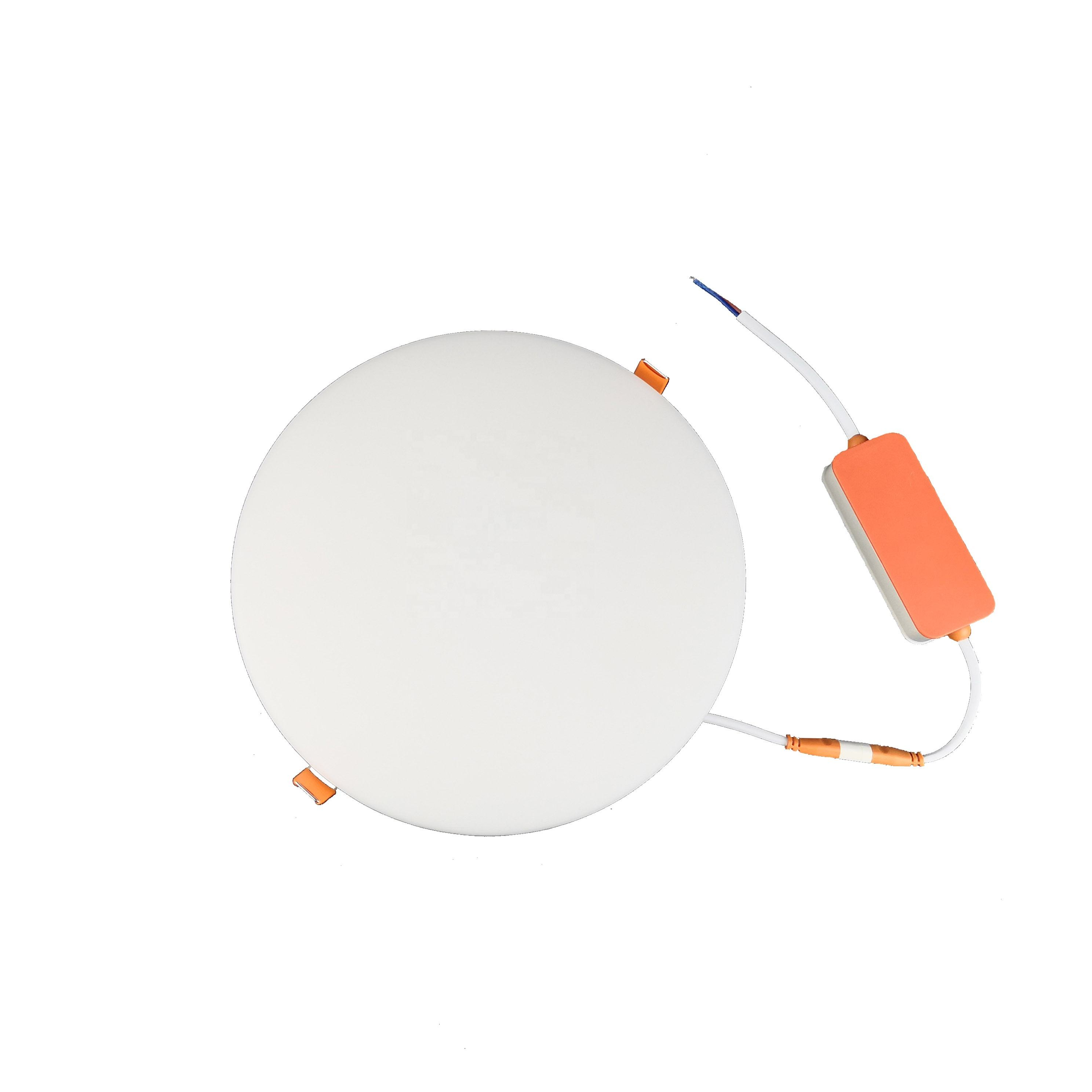 Office and home 18w frameless round led panel light